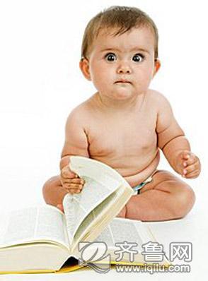 婴儿读书简笔画